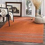 Safavieh Montauk Collection Vintage Area Rug, 8' x 10', Orange/Red