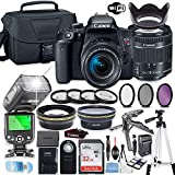 Canon EOS Rebel T7i DSLR Camera Bundle with Canon EF-S 18-55mm STM Lens + 32GB Sandisk Memory +...