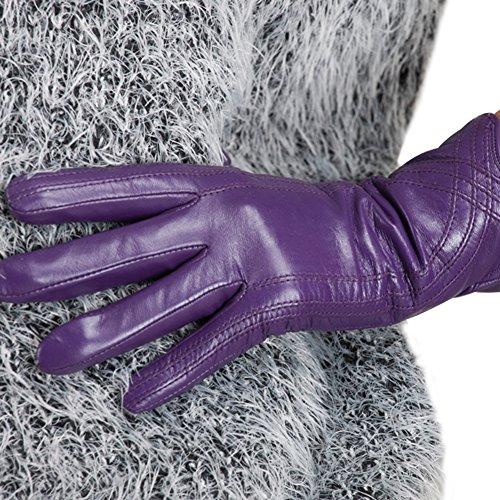Nappaglo Nappa Pelle Touchscreen Guanti Caldo Agnello Handmade Per le Donne