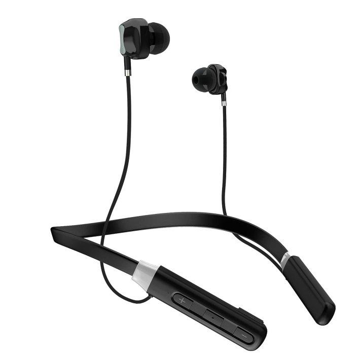 tagg impulse wireless bluetooth neckband headset (black) : amazon.in: electronics