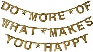 SUNBEAUTY Gold Customizable Letters&Symbols Banner Decoration Kit Party Custom Banner..