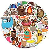 Adesivi Carino Bradipo [100 Pezzi] , Stickers Impermeabili, Adesivi in Vinile per Laptop per Waterbottle, Snowboard, Bagagli, Moto, iPhone, MacBook, Parete, Decalcomanie Patch Fai da Te per Bambini
