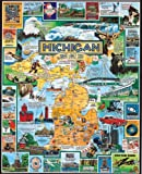 THE GREAT LAKES STATE: Prompt interesting and fun conversations building this fantastic US state puzzle honoring the great state of Michigan, both as an industrial center and a sportsman's paradise. 1000-PIECE PUZZLE:  Thrill the entire family and pr...