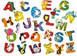 JINTORA - Lettre en Bois - C Enfants bébés - Motif Animaux la...