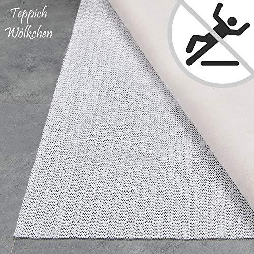 Teppich Wölkchen Teppich-Unterlage Anti-Rutsch-Matte II 17 Größen II rutschfest in Schublade Auto Kofferraum und Zuschneidbar I 150 cm rund