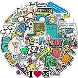 SZYND Pegatina Papelería Impermeable Equipaje Teléfono Laptop Monopatín Graffiti Calcomanías Calcomanías para computadora 50 Piezas/Paquete