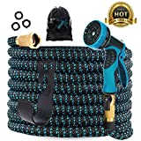 Gardguard 50ft Expandable Garden Hose: Water Hose with 9 Function Nozzle and Durable 3-Layers Latex, Flexible Water Hose with Solid Brass Fittings, Best Choice for Watering and Washing