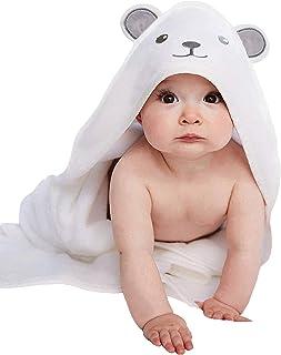 HIPHOP PANDA Bamboo Hooded Baby Towel – Softest Hooded Bath Towel with Bear Ears..