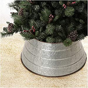 "☞ Metal material, durable, washable, waterproof ☞ The top is 15.5"" in Diameter, and the bottom is 22"" in Diameter, vertical height is 9.75 inch, suitable for Christmas trees with 6FT or the diameter of metal tree stand is less than 22 inch. ☞ Create ..."