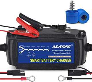 ADPOW 5A 12V Automatic Smart Battery Charger Automotive Maintainer 7-Stages Trickle..