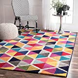 nuLOOM Maris Triangles Area Rug, 5' x 8', Multi