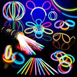 Lot de 100 bracelets fluorescents lumineux Glow - Couleurs assorties
