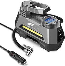 HAUSBELL Portable air Compressor for Car Tires, 12V DC Air Compressor tire inflator Pump,..