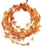 Momentum Brands Fall Harvest Wire Leaf Garland 25ft Long (Orange Gold) (1)