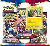 Pokemon Epée et Bouclier-Série 1 (EB01) : Pack 3 boosters, 3PACK01EB01