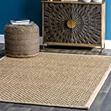 nuLOOM Spero Seagrass Solid Outdoor Rug, 2' x 3', Natural