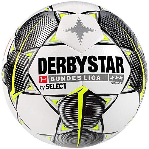 Derbystar Unisex-Erwachsene Bundesliga Brillant TT Fußball, weiß schwarz gelb, 5