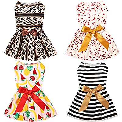Comfortable and cute: made of soft ribbon, the dog pet skirt is comfortable and breathable; With bright and vivid patterns, making your pets looks cute and sweet, can serve your pets well for a long time Appropirate size: providing you with various s...
