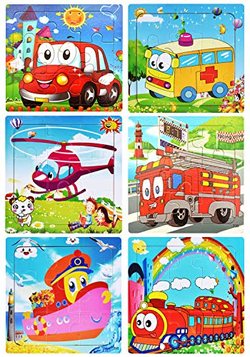Puzzles Toys for Kids for Age 2-5, 9 Pieces Vibrant Wooden...