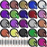 Duufin 22 Colors Nail Powder Metallic Chrome Nail Powders Mirror Effect Nails Manicure Pigment Nail Art Powder with 22 Pcs Eyeshadow Sticks, 1g/Jar