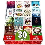 Pack De 30 Tarjetas De Felicitacin De Navidad Surtidas, Postales Diseadas Con Una Hermosa Mezcla De Citas De Navidad, Gran Seleccin