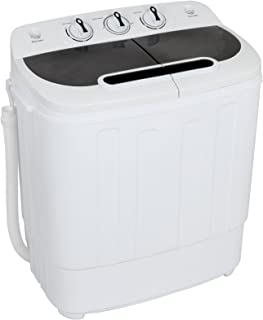 ZENY Portable Mini Twin Tub Washing Machine 13lbs Capacity with Spin Dryer,Compact Cloths..