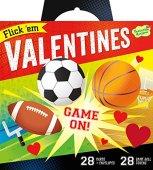 Peaceable Kingdom Valentine Card Flick 'em Sports Games - 28 Card and Envelope Pack
