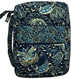 DIWI Quilted Bible Cover Large Sizes 10 X 7 X 2.75 Inches Book Case (L, C1 Royal Blue)