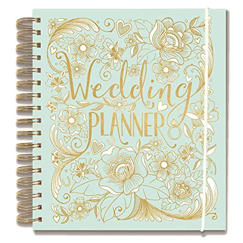 2XWedding Planner, Duck Egg Blue, Perfect Engagement Gift with Sections, checklists and Pockets for a Wedding