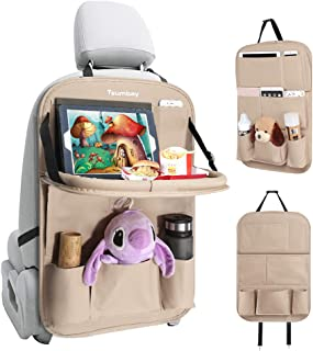 Tsumbay Car Backseat Organizer with Tablet Holder,9 Storage Pockets PU Leather Car..