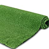 9FTX15FT Artificial GrassTurf for Garden Backyard Patio Balcony,Drainage Holes & Rubber Backing, Indoor Outdoor Faux Grass Astro Rug Carpet,DIY Decorations for Fence Backdrop