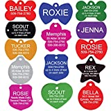 GoTags Pet ID Personalized Pet Tags for Dogs and Cats. Front & Backside Engraving and Sizes. Anodized Aluminum. Badge Shape Small.