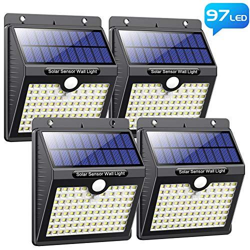 Luce Solare Led Esterno, [Super Luminoso-1000 lumen] Pxwaxpy 97 LED Lampada Solare Esterno con...