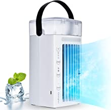 Air Conditioner Fan Personal Desk Fan Space Air Cooler Portable Mini Cooling Fan Table..