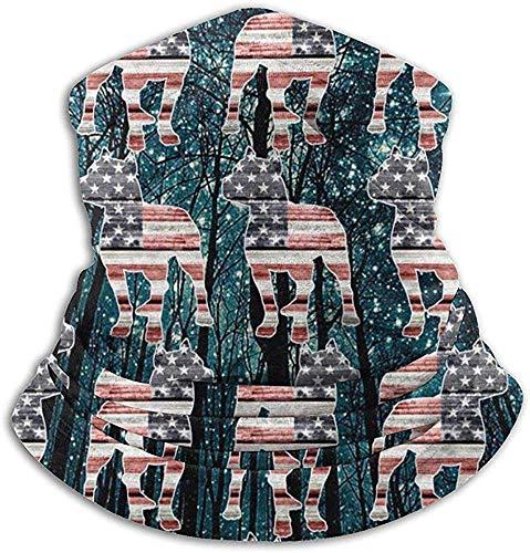 Not applicable Scaldacollo in microfibra Pitbull patriottico Bandiera americana Galassia Scaldacollo...