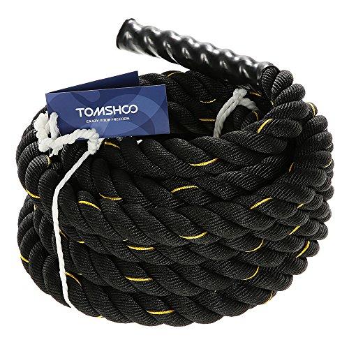 TOMSHOO Cuerda de Batalla Battle Rope Cuerda Fitness Formación...