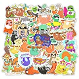 JKGHK Sticker Pack, Bonita Pegatina De Perezoso Impermeable, Botella De Agua Y Ordenador Portátil De Oficina, Adecuado para Niños, Adolescentes, Mujeres