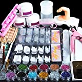 Coscelia Kit Manucure Ongles Nail Art Tips Faux Ongles Paillettes Décor...