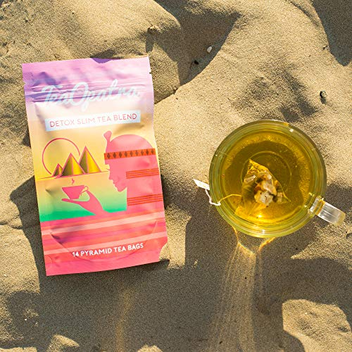 TeaOpatra Tummy Slimming Detox Tea: 14 Day Detox Cleanse for Weight Loss and Belly Fat - Zero Calorie Diet Tea for Fast, Skinny Results - Natural Cleansing Herbal Blend for Women - 14 Pyramid Tea Bags 7