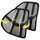 Lumbar Support (2 Pack) with Double-Layer Mesh, Mesh Back Support Cushion for Car Seat Office Chair by Kingphenix (Black, 2 Pack)