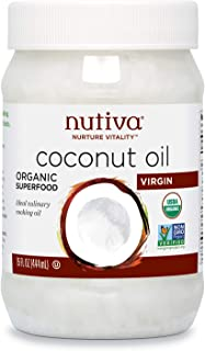 Nutiva Organic, Untagined, Virgin Coconut Oil, 15 Fl Oz (Pack of 1)
