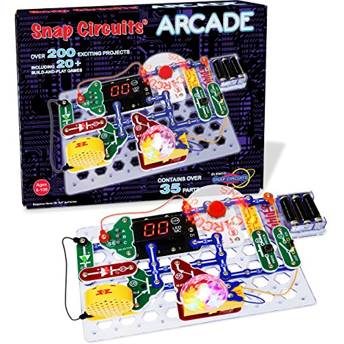 """Snap Circuits """"Arcade"""", Electronics Exploration Kit, Stem Activities for Ages 8+, Multicolor (SCA-200)"""