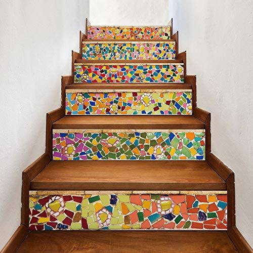 Lutingstore Modern Art 3D Stair Stickers,Eco-Friendly Self-Adhesive...