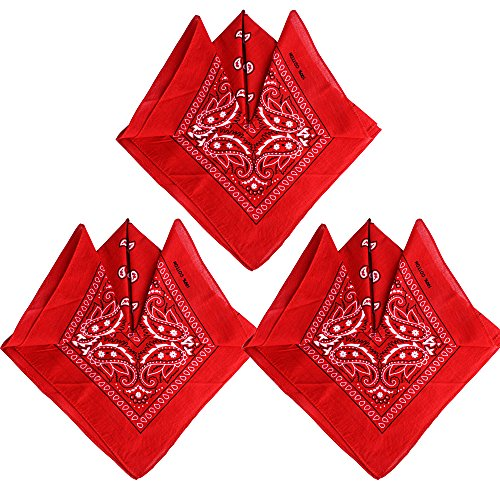QUMAO Pack de 3 Pañuelos Bandanas de Modelo de Paisley para