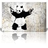 wall26 - Stick'Em Up Banksy Graffiti Artwork - Canvas Art Wall Art -...