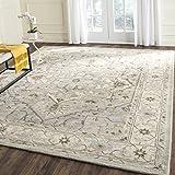 Safavieh Heritage Collection HG866A Handmade Traditional Oriental Premium Wool Area Rug, 9' x 12', Beige / Grey