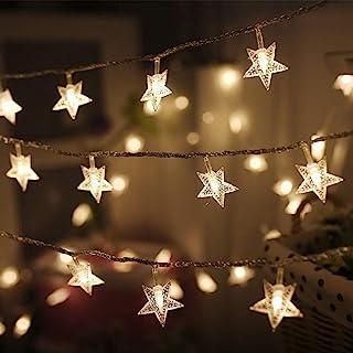 Twinkle Star 100 LED 49 FT Star String Lights, Plug in Fairy String Lights Waterproof,..
