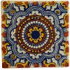 Ceramic Mexican Tile – 10.5cm- Handmade and Ethically Traded by...
