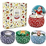 Christmas Scented Candles Gifts Set for Women,Aromatherapy Candles for Home Scented,4.4Oz Soy Wax...