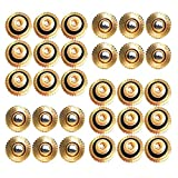 KUWAN 30pcs Brass Misting Nozzles for Cooling System 0.019' (0.5 mm) 10/24 UNC Garden (0.019)